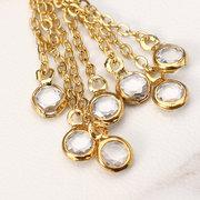 JASSY® Mulheres Choker Colar de couro preto com pedras preciosas em ouro