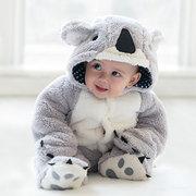 Cute Koala Shape Thick Warm Cotton Baby Romper Jumpsuit Outerwear For 0-36M