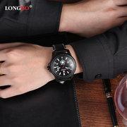 LONGBO Calendario Relojes para hombres Relojes militares de acero inoxidable Relojes impermeables luminosos para hombres