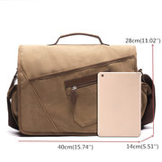 Ekphero Vintage Canvas Large Capacity Casual Multi-pocket Crossbody Bag For Men