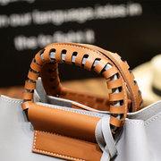 c1520d2bd ... أنيقة بو الجلود حقيبة يد دلو حقيبة حقائب الكتف حقائب كروسبودي للنساء ...