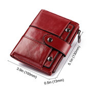 Women 10Cards Coin Purse Casual Genuine Leather Wallet