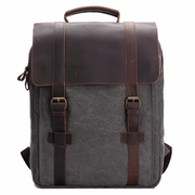 Vintage Canvas 15 inch Laptop Bag Commuter Bag Backpack Men Women