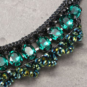 JASSY® Luxury Necklaces Black Diamond Chain Emerald Crystal Beads Charm Necklaces for Women