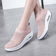 Chaussures de sport à semelles compensées légères et respirantes pour femmes, chaussettes de sport