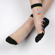 Women's Lace Antiskid Invisible Sock Summer Thin Breathable Middle Tube Socks