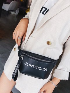 Women's Waist Bag Letter Print All Match Bag