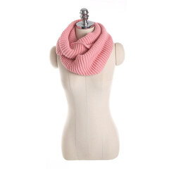Women Winter Thick Warm Knitted Collar Scarves Casual Windproof Solid Color Neck Warmer Scarf