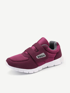 Lycra Letter Stitching Solid Color Hook Loop Soft Warm Athletic Shoes For Women