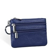 Women Casual Geniune Leather Zipper Small Purse Wallet Coin Bags Key Bags Card Holders