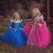 Mädchen prinzessin cosplay halloween party kleid kleidung für 4y-13y