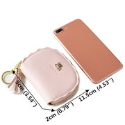 Women PU Leather 9 Card Slot Wallet Solid Coin Purse