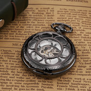 OUYAWEI Vintage Mechanical Pocket Watches Roman Numeraals Dial Pendant Watch Ethnic Jewelry for Men