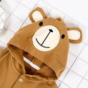 Милые животные медведь с капюшоном младенческой мальчиков девочек Комбинезон для 0-24 м