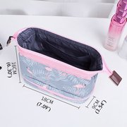 Oxford Casual Print Cosmetic Bag Travel Makeup Storage Bag For Women