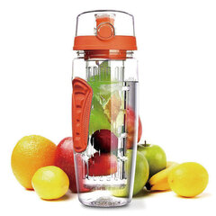 BPA Free Fruit Infuser Sport Colonna per frutta Kettle Plastic Fruit Cup 1000ML Lemonade Space Bottle