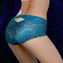 Plus Größe Sexy Lace Hip Lifting Breathable Mid Rise Panties