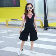 Девочки Широкий ремень для ног Короткие детские брюки 19 Детская одежда Новые Большие детские брюки Детский ремень из пяти штанов
