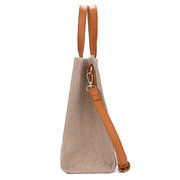 Women Linen Leisure Large Capacity Handbag Crossbody Bag Traval Shoulder Bag