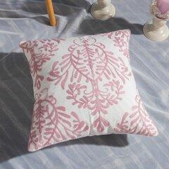 Розовый Ручная вязка Шаблон Льняная подушка Чехол Домашний тканевый диван Средиземноморский чехол для подушки
