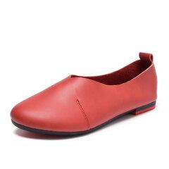 Mocassins Cuir Confortables Chaussures De Paresseux Décontractées À Enfiler
