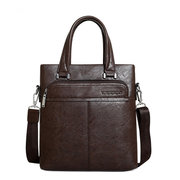 Mens Business Bag Sac à main en cuir PU Sac à bandoulière Portable Sac à bandoulière