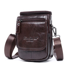 Genuine Leather Cowhide Multi-function Waist Bag Mini Crossbody Bag