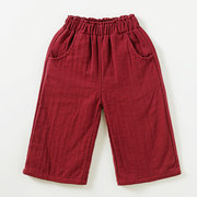 Solid Color Girls Cotton Jogger Pants Kids Casual School Clothes For 1Y-7Y