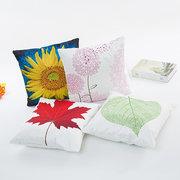45x45cm Nova Imitação Silk Pillow Case Girassol Dandelion Cushion Cover Sofa Decor