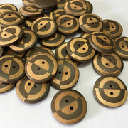 100Pcs Natural Wood Sewing Buttons 23mm Diameter 2 Holes Cloth Buttons DIY Handcraft Meterials