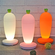 DecBest USB LED Silicone Carrot Cute Night Light Lamp Baby Children Bedroom Bedside Lamp Home Decor