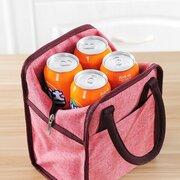 Große Kapazität Lunchpaket Oxford Tuch Aluminium Leinen Picknick Portable Bento Bag Lebensmittel Box Tasche