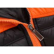Casual Patchwork Zip Pockets Lightweight Stand Collar Down Jackets for Men
