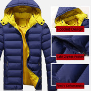Winter Outdoor Water Resistant Thicken Warm Hooded Padded Jacket For Men