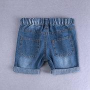 Набор одежды для мальчиков с принтом динозавров для малышей в полоску + джинсовые шорты для 2Y-11Y