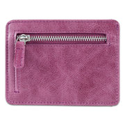 RFID Unisex Genuine Leather Card Holder Woman Wallet Slim Zip Small Wallet Mini Coin Purse