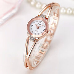 Fashion Quartz Wristwatch Gold Silver Steel Strap Round Dial Watches Sweet Jewelry for Women