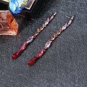 JASSY® Модные серьги с бриллиантами, вырезанные из цветного хрусталя, с длинными серьгами