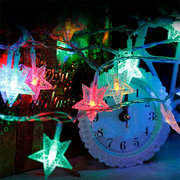 Five pointed Star LED String Fairy Lights Outdoor Christmas Fairy String Light For wedding Party