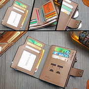 PU Leather Bifold Wallet 14 Card Slots Business Card Pack For Men