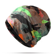 Woman Cotton Print Camouflage Beanies Scarf Casual Cap Outdoor Riding Hats Multi-funtion Towel