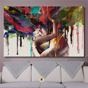 Canvas Print Room Wall Art Pictures Home Decor Abstract Couple Painting
