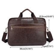 Genuine Leather Business Laptop Bag Briefcase Shoulder Bag For Men