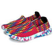Colorful Handmade Knitting Outdoor Breathable Flat Sport Shoes