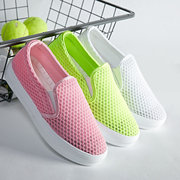Mesh Hollow Out Breathable Slip On Flat Casual Sport Shoes