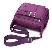 Multi-pocket Nylon Waterproof 5 Colors Shoulder Bags Casual Lightweight Crossbody Bags