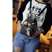 Women's Camouflage Backpack Campus Style Mini Nylon Backpack
