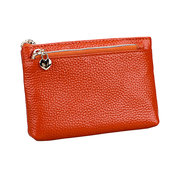 Genuine Leather Solid Slim Coin Purse Wallet For Women