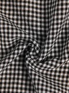 vendimia Plaid manga corta Plus tamaño Maxi Vestido con bolsillos