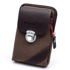 Canvas With Leather Waist Bag Outdoor Crossbody Bag For Men